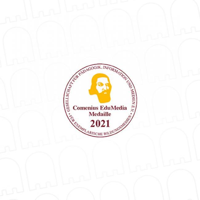 Comenius-EduMedia-Medaille 2021 für edubreak by Ghostthinker